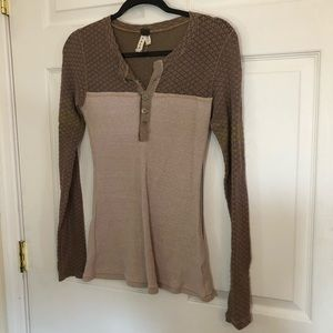 Free people long sleeve top blouse small